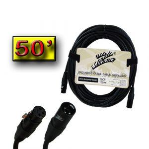 Cable P/ Mic. Zebra XLR Macho A XLR Hembra 50' Cal 24