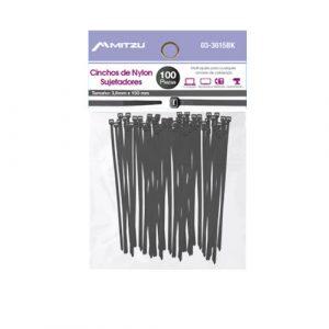 Cincho Plastico Mitzu  3.6 X 150mm Negro