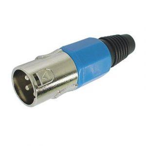 Conector XLR Macho Azul