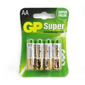 Bateria GP Super Alkalina AA 1.5V Carton 4 piezas