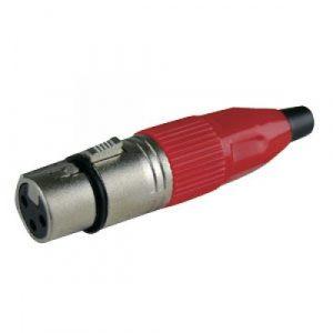Conector XLR Hembra Rojo
