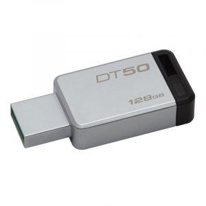 Memoria USB Kingston DT50 128GB Color Gris con Negro
