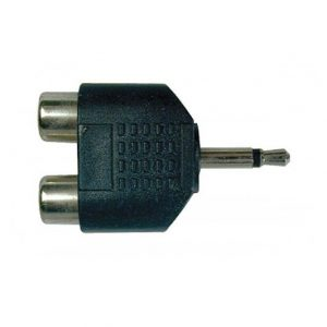 Plug N.A. RCA 2 hembras a 3.5mm mono