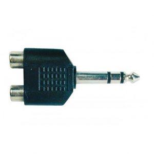 "Plug N.A. RCA 2 hembras a1/4"" stereo"