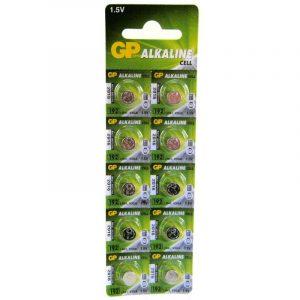 Bateria GP Alkalina LR41 (192) 1.5V Carton 10 piezas