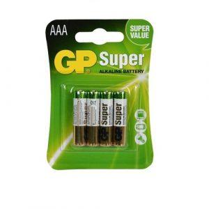 Bateria GP Super Alkalina AAA 1.5V Carton 4 piezas