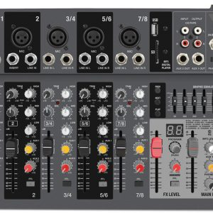 Consola Novik 8 canales C/ USB/BT/SD/MP3