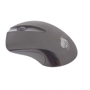 Mouse Inalambrico Green Leaf Color Negro