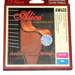 Set de cuerdas Alice para guitarra acustica de bronce