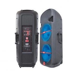 Bocina Kaiser doble 2x15'' C/ BT/SD/FM/luz led 2500W