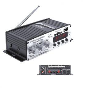 Amplificador Mitzu con entrada USB/SD/FM