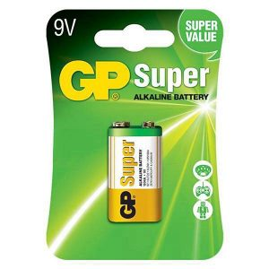 BATERIA GP SUPER ALKALINA 9V CARTON 1PC