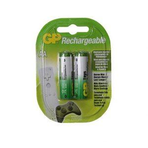Bateria GP NiMH Recarg. AA 2100 Apc Juegos Carton 2 piezas