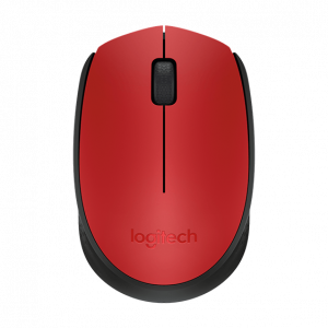Mouse Inalambrico Logitech M170 Color Rojo