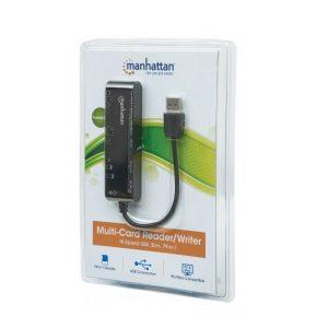 Lector de memoria Manhattan USB  79 en 1 externo negro