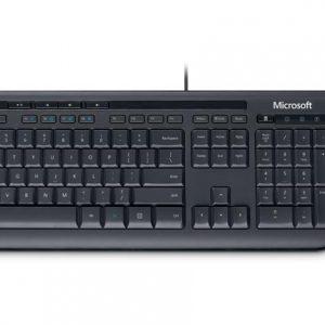 Combo alámbrico USB teclado y mouse Microsoft color negro