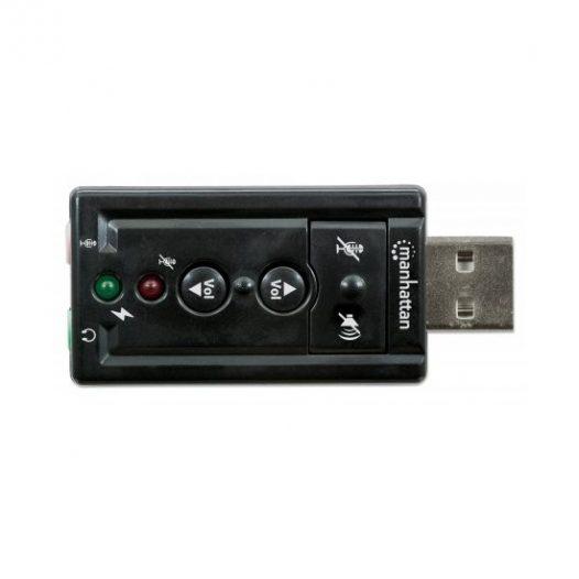 Adaptador de Sonido USB 7.1 canales de audio Manhattan 151429