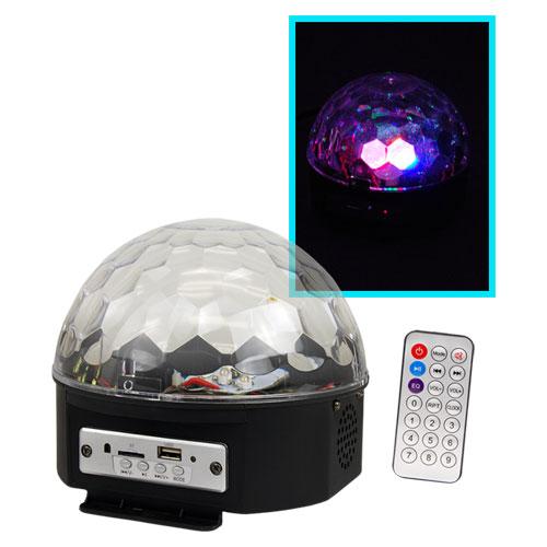 Luz Led Zebra Mini Cristales Con Reproductor Mp3 Bluetooth
