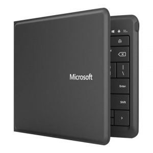 Teclado flexible Microsoft Universal Foldable en español color negro