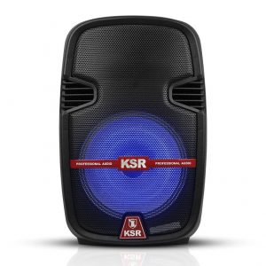 Bocina Kaiser 12'' recargable USB/SD/FM/BT c/luz led