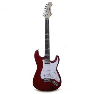 Guitarra eléctrica Hendrix tipo tc con estuche rojo intenso