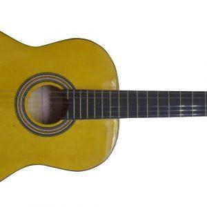 Guitarra classica Valenciana 39'' amarilla c/estuche