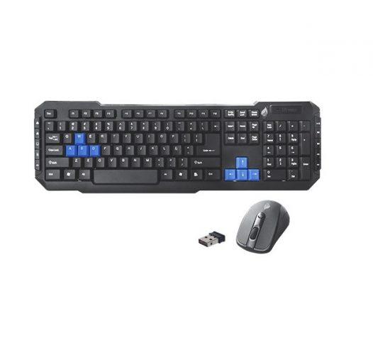 Combo teclado y mouse inalámbrico Green Leaf  multimedia color negro