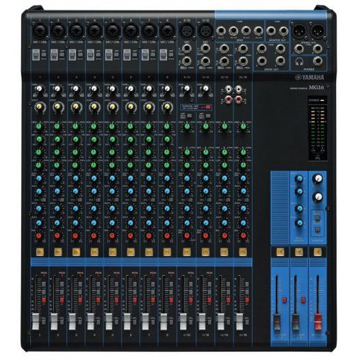 Consola profesional analóga  de 16 canales YAMAHA MG16 color negro