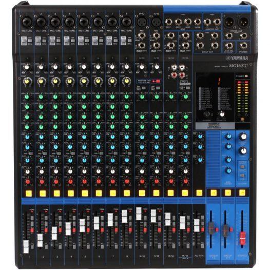 Consola profesional analóga  de 16 canales con efectos e interface USB YAMAHA MG16XU color negro