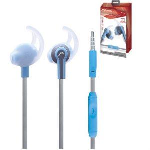 Audífonos Mitzu manos libres con micrófono azul