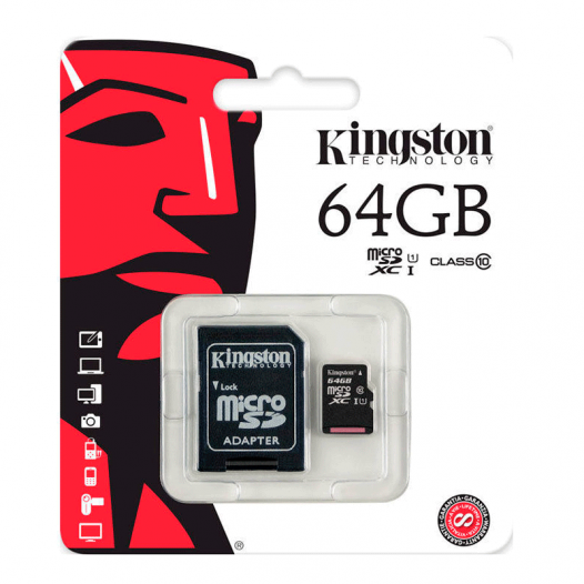 Memoria Micro SD Kingston de 64GB Clase 10