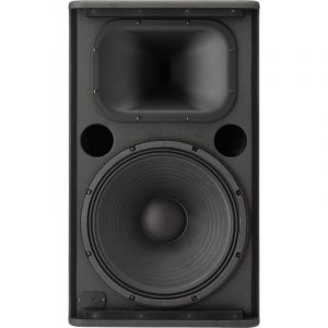 Bocina Yamaha negra amplificada 1500w 15''  2 vias