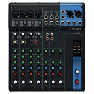 Consola profesional analóga  de 10 canales  YAMAHA MG10 color negro
