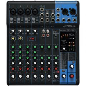 Consola profesional analóga  de 10 canales con efectos e interface USB  YAMAHA MG10XU color nagro