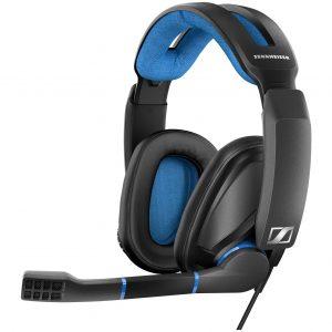 Audífonos Gaming marca Sennheiser para PC, Mac, PS4 color Negro con Azul
