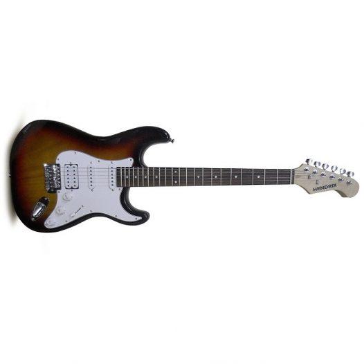 Guitarra Eléctrica marca Hendrix Color Sunburst Tipo TC con Estuche
