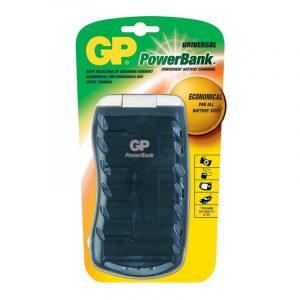 Cargador GP para baterías AA/AAA/C/D/9V