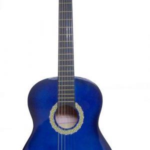 """Guitarra Valenciana para Niño 30"""" con Estuche Color Azul con Negro"""