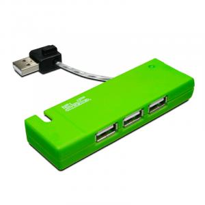 Hub Klip Xtreme de 4 puertos usb 2.0 verde Kuh-400G