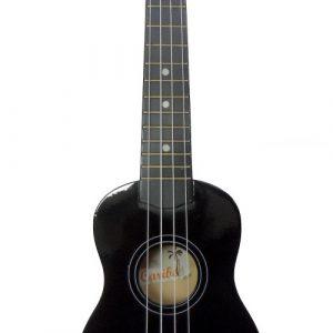 Ukulele Caribe 21″ Soprano Color Negro Con Estuche