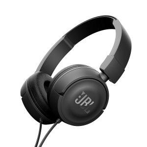 Audífonos JBL T450 on ear con micrófono negro