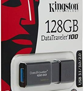 Memoria USB Kingston DT100 G3 128GB Color Negro