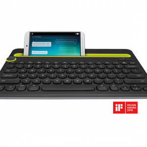 Teclado bluetooth Logitech multi-device k480 en inglés color negro