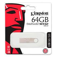 Memoria USB Kingston 64GB DTSE9 G2 USB 3.0 Color Plateado