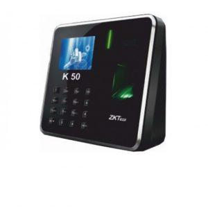Sistema de reloj registrador ZKTeco K50