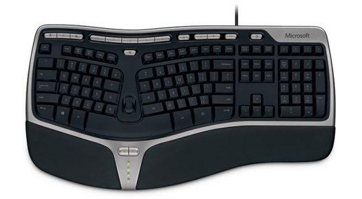 Teclado USB Microsoft Natural Ergonomic 4000 en español color negro