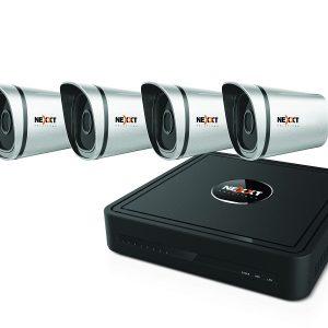 Kit de Camaras de Seguridad Nexxt 8ch 4cam 720p poe