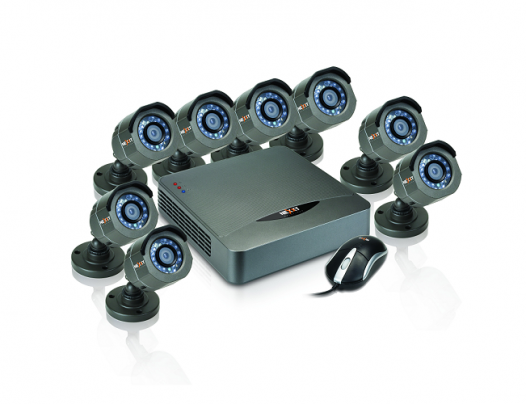DVR + cámaras Nexxt Xpy8008-HD cableado