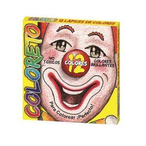 Crayones de madera Coloreto 12 corto