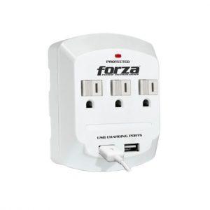 Tomacorriente de pared Forza FWT-730USB 3 tomas 2 puertos usb